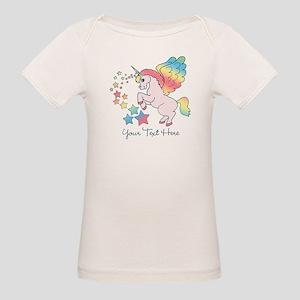 Unicorn Rainbow Star Organic Baby T-Shirt