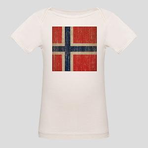 Vintage Norway Flag Organic Baby T-Shirt