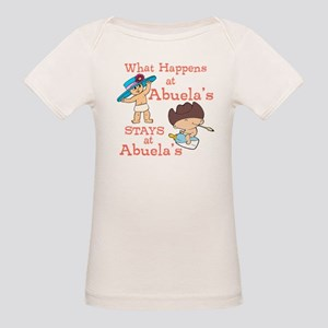 What Happens at Abuela's Organic Baby T-Shirt