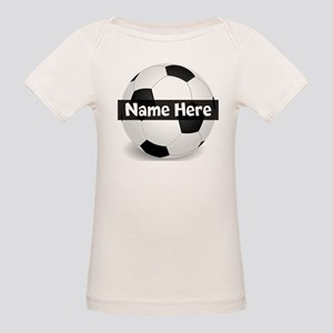 Personalized Soccer Ball Organic Baby T-Shirt
