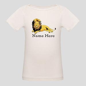 Personalized Lion Organic Baby T-Shirt