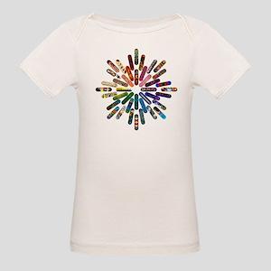 Skateboard Art Mandala Organic Baby T-Shirt