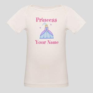 Blond Princess Personalized Organic Baby T-Shirt