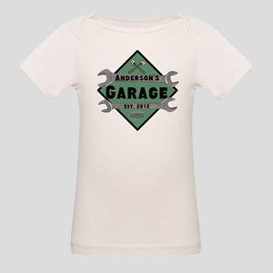 Personalized Garage Organic Baby T-Shirt