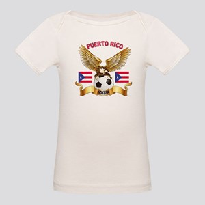 Puerto Rico Football Design Organic Baby T-Shirt