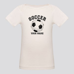 Personalized Name Soccer Organic Baby T-Shirt