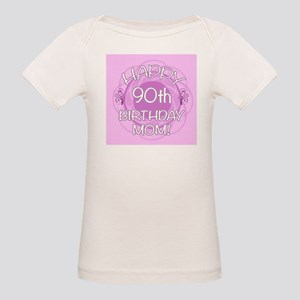 90th Birthday For Mom (Floral) Organic Baby T-Shir
