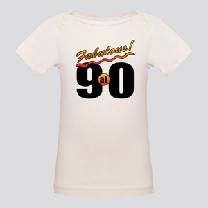 Fabulous At 90 Organic Baby T-Shirt