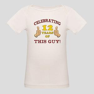 Funny 12th Birthday For Boys Organic Baby T-Shirt