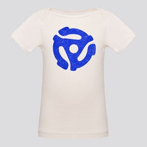 Blue Distressed 45 RPM Adapter Organic Baby T-Shir