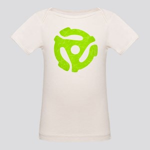 Lime Green Distressed 45 RPM Adapter Organic Baby