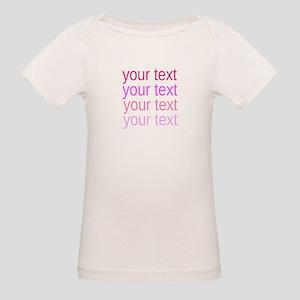 shades of pink text T-Shirt
