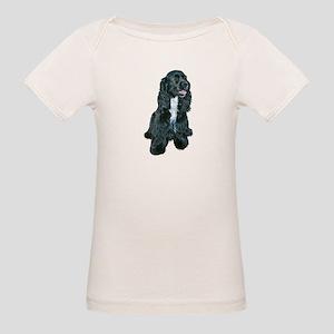Cocker (black- white bib) Organic Baby T-Shirt