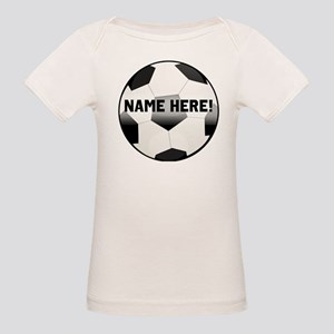 Personalized Name Soccer Ball Organic Baby T-Shirt