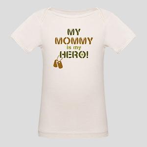 Dog Tag Hero Mommy Organic Baby T-Shirt
