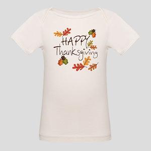 Happy Thanksgiving Organic Baby T-Shirt