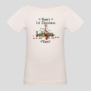 Personalize 1st Christmas Organic Baby T-Shirt