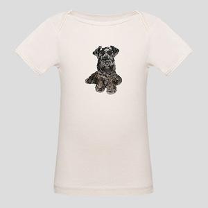 Schnauzer (gp-blk) Organic Baby T-Shirt