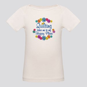 Quilting Happy Place Organic Baby T-Shirt