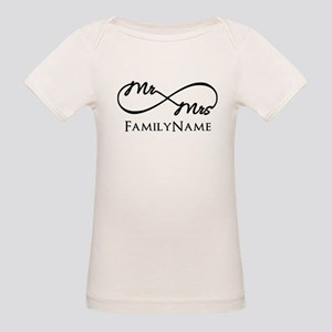 Custom Infinity Mr. and Mrs. Organic Baby T-Shirt