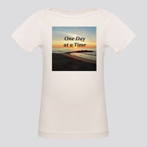 ONE DAY AT A TIME Organic Baby T-Shirt