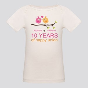 10th Anniversary Personalized Organic Baby T-Shirt