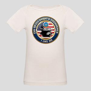 CVN-69 USS Eisenhower Organic Baby T-Shirt