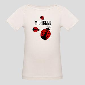 Cute Red   Black Ladybugs Name T-Shirt