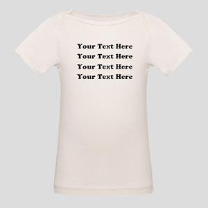 Custom add text Organic Baby T-Shirt