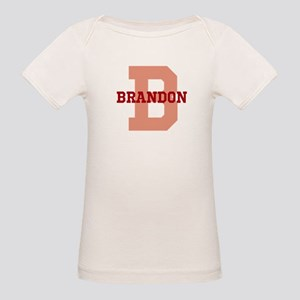 CUSTOM Initial and Name Red Organic Baby T-Shirt
