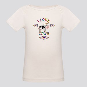 I Love Cows Organic Baby T-Shirt