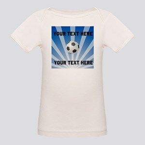 Personalized Soccer Organic Baby T-Shirt