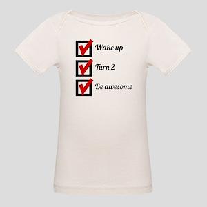 Awesome 2nd Birthday Checklist T-Shirt