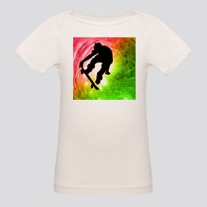 Skateboarder in a Psychedelic T-Shirt