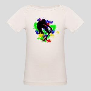 Graffiti Paint Splotches Skateboarder T-Shirt