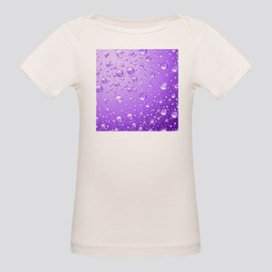 Metallic Purple Abstract Rain Drops T-Shirt
