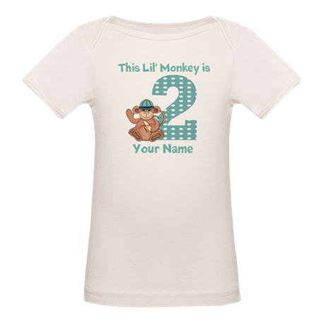 2nd Birthday Monkey Organic Baby T-Shirt