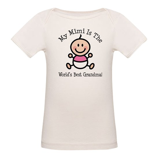 1b5fae59 Worlds Best Mimi Girl Organic Baby T-Shirt Best Mimi Baby Girl Stick ...
