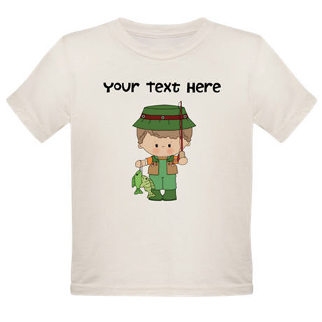 Personalize Fishing Organic Toddler T-Shirt