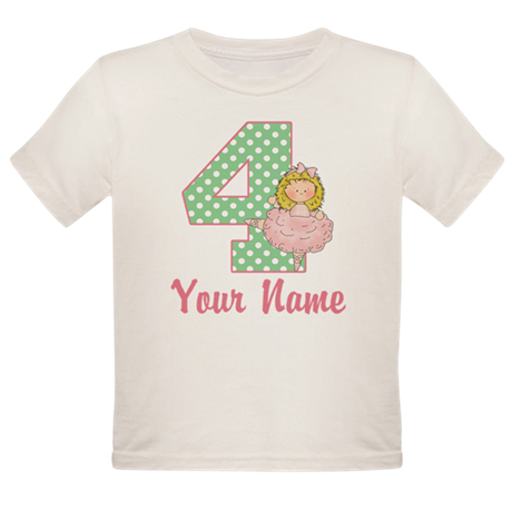4th Birthday Ballet Organic Toddler T-Shirt
