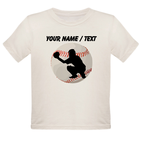 Custom Baseball Catcher Silhouette T-Shirt
