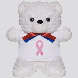 Pink Ribbon & Heart Teddy Bear