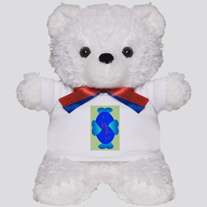 Blue Twisted Teddy Bear