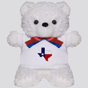 Texas Flag on Texas Outline Teddy Bear