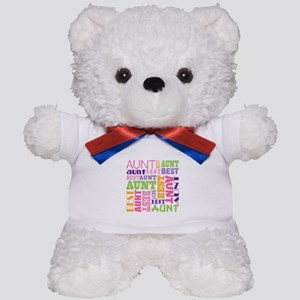 Best Aunt Design Gift Teddy Bear