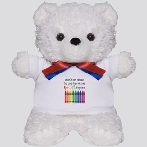Box Of Crayons Teddy Bear