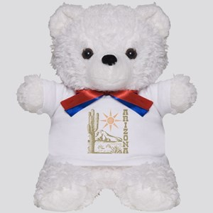 Vintage Arizona Cactus and Sun Teddy Bear