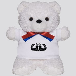 1-502 Black Heart Teddy Bear