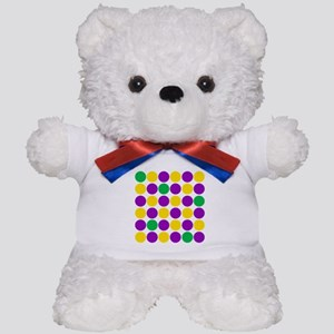 circles purple green gold Teddy Bear