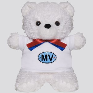 Martha's Vineyard MA - Oval Design. Teddy Bear